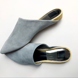 Dolce Vita Grey Faux Suede Mules